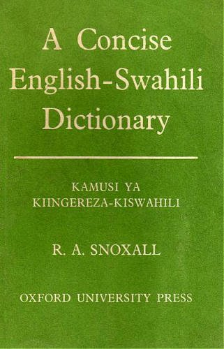 9780196393483: A Concise English-Swahili Dictionary