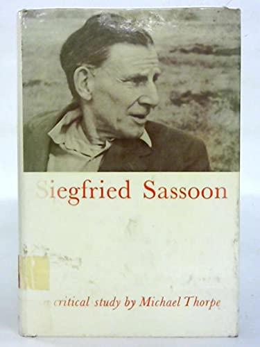 9780196473611: Siegfried Sassoon. A Critical Study