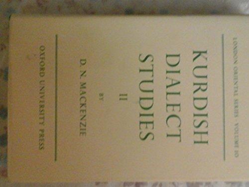 9780197135266: Kurdish Dialect Studies: v. 2