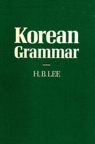 9780197136065: Korean Grammar