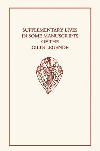 Supplementary Lives in Some Manuscripts of the: Hamer, R. &