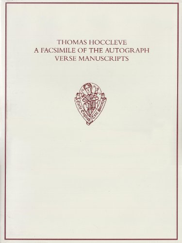 9780197224205: Thomas Hoccleve: A Facsimile of the Autograph Verse Manuscripts: Henry E. Huntington Library, San Marino (California), MSS HM 111 and HM 744; ... English Text Society Supplementary Series)