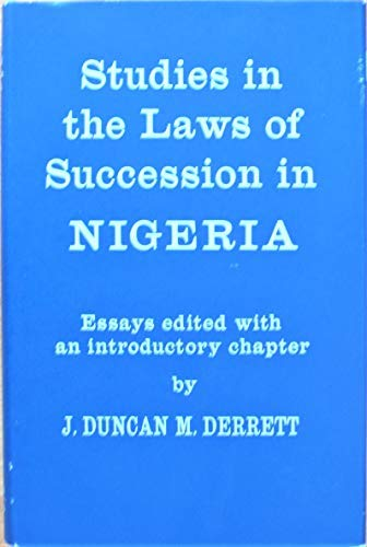 9780197245118: Studies in the Laws of Succession in Nigeria