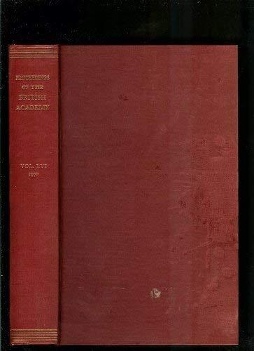 Proceedings of the British Academy Volume LVI: British Academy