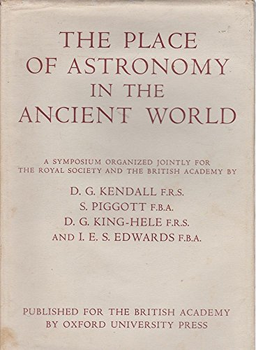 9780197259443: The Place of Astronomy in the Ancient World
