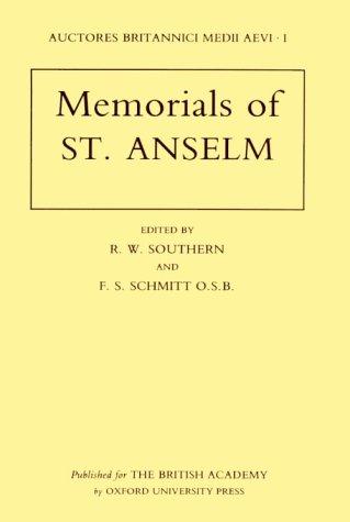 Memorials of St. Anselm.: Anselm, Saint.