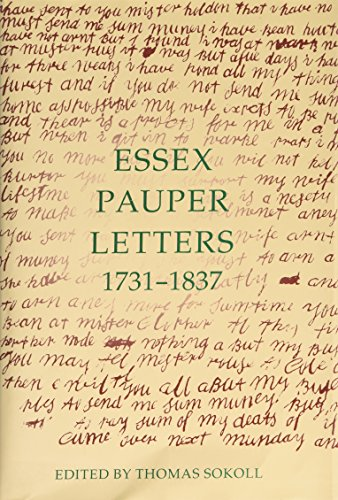 9780197262429: Essex Pauper Letters, 1731-1837 (Records of Social and Economic History (New Series))