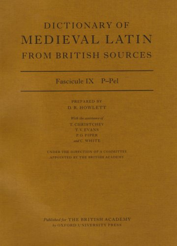 9780197263402: Dictionary of Medieval Latin from British Sources: Fascicule IX: P-Pel (Medieval Latin Dictionary)
