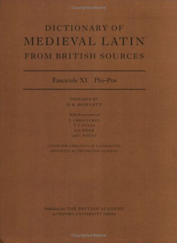 9780197264218: Dictionary of Medieval Latin from British Sources: Fascicule XI: Phi-Pos
