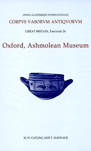 Corpus Vasorum Antiquorum, Great Britain Fascicule 24, Oxford Ashmolean Museum, Fascicule 4.: ...