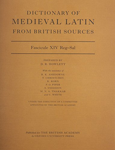 Dictionary of Medieval Latin from British Sources: Fascicule XIV Reg-Sal (Paperback)