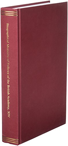 9780197265918: Biographical Memoirs of Fellows of the British Academy, XIV