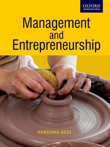 Management and Entrepreneurship: Bedi, Kanishka