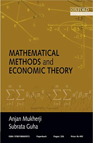 9780198069973: Mathematical Methods and Economic Theory
