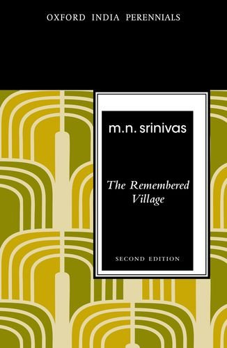 9780198077459: The Remembered Village, Second Edition (Oxford India Perennials Series)