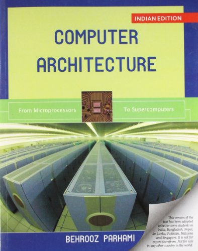 Computer Architecture 9780198084075 About the Book: Computer Architecture The book emphasizes both underlying theory and actual designs,and covers a wide array of topics and links computer architectureto other subfields of computing. Computer Architecture: From Microprocessors to Supercomputersprovides a comprehensive introduction to this thriving and excitingfield. Emphasizing both underlying theory and actual designs, thebook covers a wide array of topics and links computer architectureto other subfields of computing. The material is presented inlecture-sized chapters that make it easy for students to understandthe relationships between various topics and to see the ybigpicture. The short chapters also allow instructors to order topicsin the course as they like. The text is divided into seven parts,each containing four chapters. Part I provides context and reviewsprerequisite topics including digital computer technology andcomputer system performance. Part II discusses instruction-setarchitecture. The next two parts cover the central processing unit.Part III describes the structure of arithmetic/logic units and PartIV is devoted to data path and control circuits. Part V deals withthe memory system. Part VI covers input/output and interfacingtopics and Part VII introduces advanced architectures. Contents Preface PART 1: Background And Motivation 1. Combinational Digital Circuits 2. Digital Circuits with Memory 3. Computer System Technology 4. Computer Performance PART 2: Instruction-Set Architecture 5. Instructions and Addressing 6. Procedures and Data 7. Assembly Language Programs 8. Instruction-Set Variations PART 3: The Arithmetic/Logic Unit 9. Number Representation 10. Adders and Simple ALUs 11. Multipliers and Dividers 12. Floating-Point Arithmetic PART 4: Data Path And Control 13. Instruction Execution Steps 14. Control Unit Synthesis 15. Pipelined Data Paths 16. Pipeline Performance Limits PART 5: Memory System Design 17. Main Memory Concepts 18. Cache Memory Organization 19. ...
