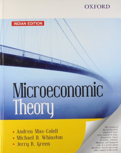 9780198089537: FAST SHIP - MAS-COLELL 1e Microeconomic Theory E05