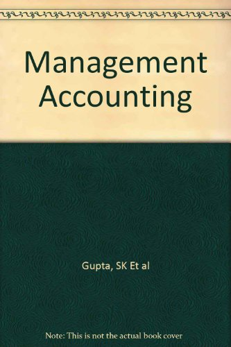 9780198095163: Management Accounting, 1/E
