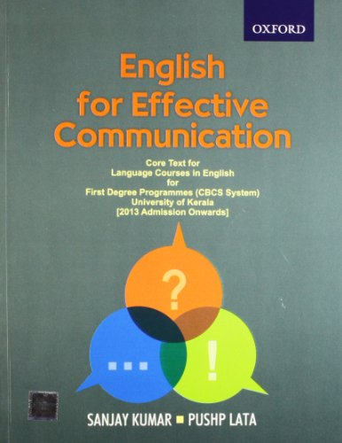 ENGLISH FOR EFFECTIVE COMMUNICATION: SANJAY KUMAR AND
