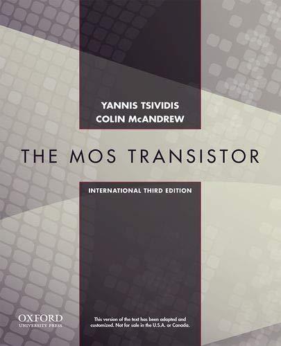 9780198097372: Mos Transistor, 3/E
