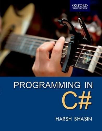 Programming in #c: Bhasin, Harsh