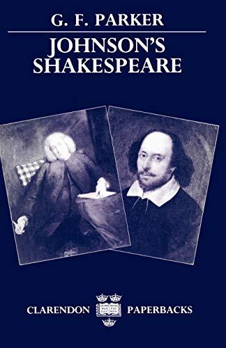 9780198112716: Johnson's Shakespeare (Clarendon Paperbacks)