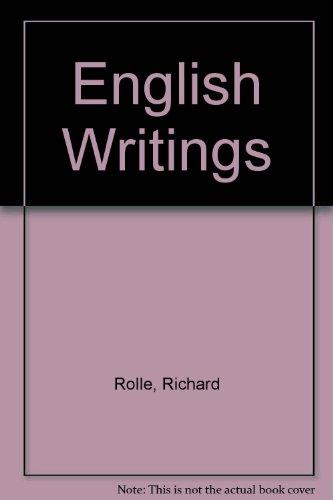 9780198113850: English Writings