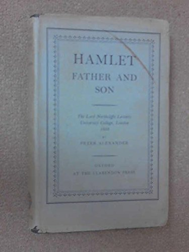 9780198115014: Hamlet Father and Son