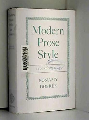 MODERN PROSE STYLE (0198115261) by BONAMY DOBREE