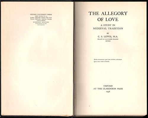9780198115625: The Allegory of Love
