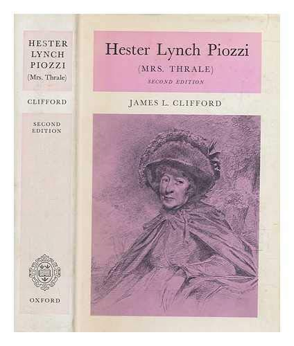 Stock Image Hester Lynch Piozzi: Mrs.Thrale (Oxford Reprints: James L Clifford