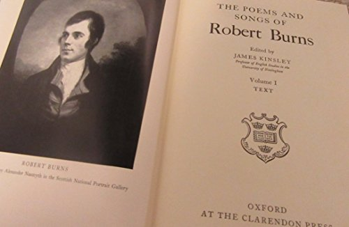 9780198118435: The Poems and Songs of Robert Burns - in 3 volumes (Oxford English Texts)