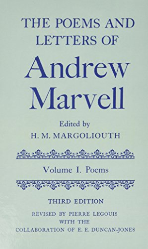 9780198118534: The Poems and Letters of Andrew Marvell: Volume 1: Poems; Volume 2: Letters (|c OET |t Oxford English Texts)