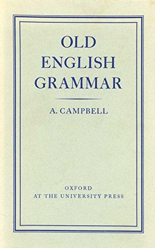 9780198119012: Old English Grammar