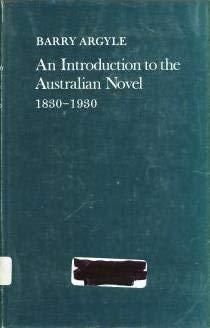 Introduction to the Australian Novel, 1830-1930: Argyle, Barry