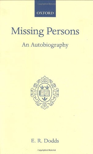 9780198120865: Missing Persons: An Autobiography