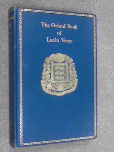 9780198121176: Oxford Book of Latin Verse