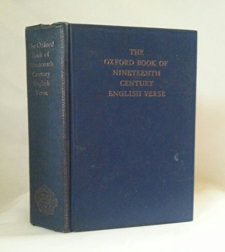 9780198121305: The Oxford Book of Nineteenth-Century English Verse