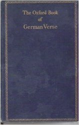 9780198121329: The Oxford Book of German Verse: From the 12th to the 20th Century