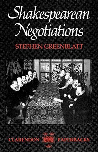 9780198122272: Shakespeares Negotiations (Clarendon Paperbacks)