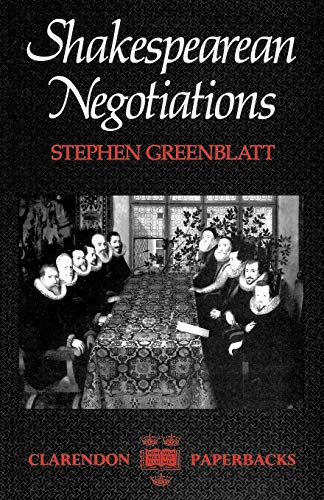 9780198122272: Shakespeares Negotiations (Clarendon Paperbacks)