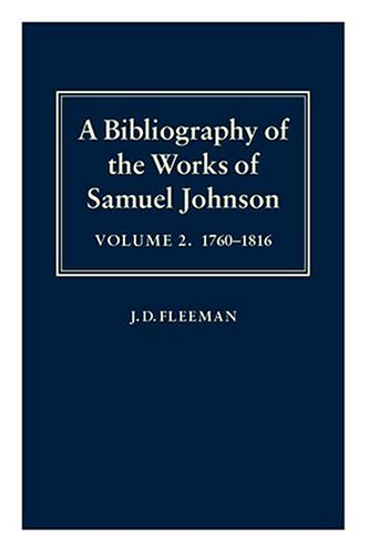A Bibliography of the Works of Samuel