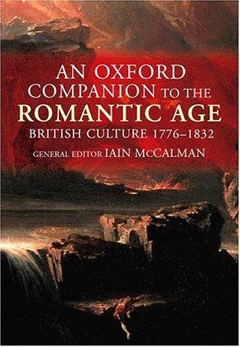 9780198122975: An Oxford Companion to the Romantic Age: British Culture 1776-1832