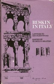 9780198124412: Ruskin in Italy: Letters to his Parents 1845