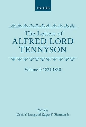 The Letters of Alfred Lord Tennyson (Complete in 3 Vols.): Lang, Cecil Y.; Edgar F. Shannon Jr. (...