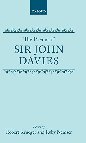 The Poems (|c OET |t Oxford English Texts): John Davies