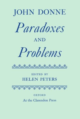 9780198127536: Paradoxes and Problems (Oxford English Texts)