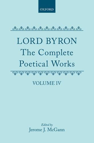9780198127567: The Complete Poetical Works: Volume IV (|c OET |t Oxford English Texts)