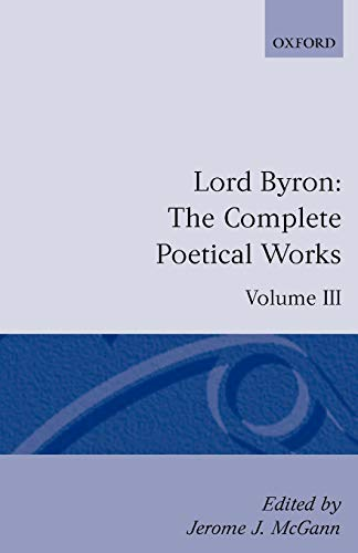 9780198127659: The Complete Poetical Works, Volume 3 (Oxford English Texts)