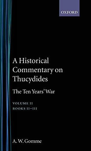 9780198140030: An Historical Commentary on Thucydides Volume 2. Books II-III